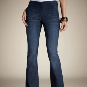 Chico's Jeans - CHICO'S Platinum denim pull on flare jeans